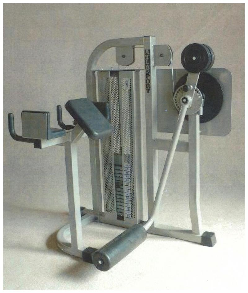 Radial gluteus machine